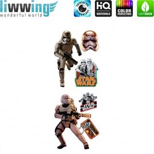Wandsticker Disney Star Wars - No. 4855 Wandtattoo Sticker Laserschwert Weltall Raumschiffe Sterne Planet Jungen