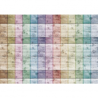 Fototapete Holz Tapete Holzwand Streifen Muster Illustrationen bunt Linien Flächen bunt | no. 421