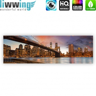 Leinwandbild New York Bridges Skyline New York City USA Amerika Big Apple | no. 21 - Vorschau 4