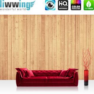 liwwing Fototapete 368x254 cm PREMIUM Wand Foto Tapete Wand Bild Papiertapete - Holz Tapete Holzwand Holzoptik Holz Paneele Natur natural - no. 1984