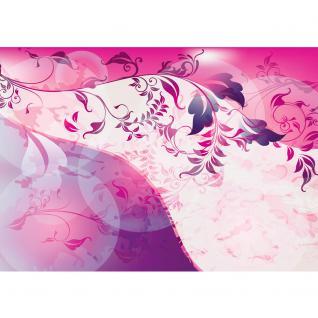 liwwing Vlies Fototapete 104x50.5cm PREMIUM PLUS Wand Foto Tapete Wand Bild Vliestapete - Ornamente Tapete Ranke Blätter Schnörkel Linien pink - no. 1930 - Vorschau 2