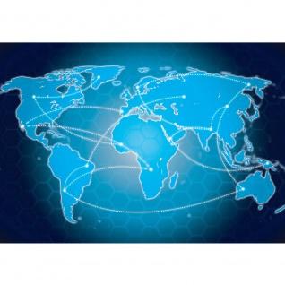 Fototapete Städte & Länder Tapete Landkarte Welt Kontinent Vintage Globus Atlas Reise blau | no. 4316