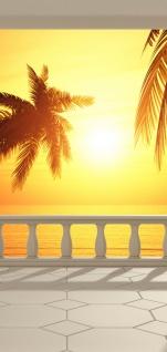 Türtapete - Terrace View Romantic Sunset Meer Strand Beach Sonnenuntergang Palmen | no. 123 - Vorschau 5