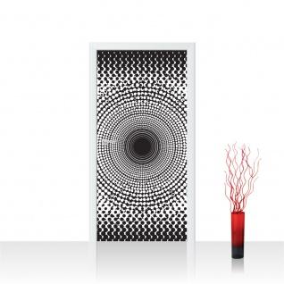 Türtapete - Abstrakt Ornamente Punkte Kreis | no. 403