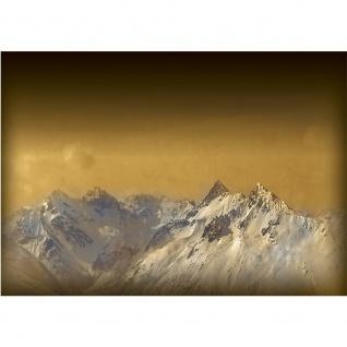 Fototapete Landschaft Tapete Berge Schnee Himmel gold | no. 1622