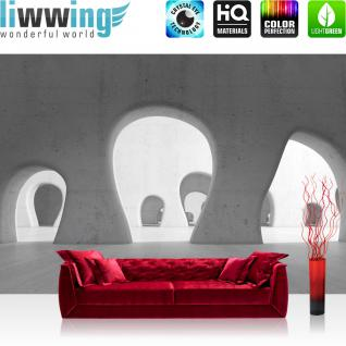liwwing Vlies Fototapete 104x50.5cm PREMIUM PLUS Wand Foto Tapete Wand Bild Vliestapete - Architektur Tapete Formen Bauwerk Bauform Baustil grau - no. 3080