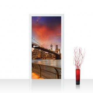 Türtapete - New York Bridges Skyline New York City USA Amerika Big Apple | no. 21 - Vorschau 1