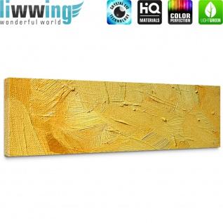 Leinwandbild Wall of yellow shades Wand Spachtel Hintergrund farbige Wand gelb   no. 107 - Vorschau 5