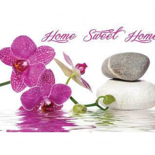 liwwing Vlies Fototapete 312x219cm PREMIUM PLUS Wand Foto Tapete Wand Bild Vliestapete - Wellness Tapete Orchideen Wellness Steine Wasser pink - no. 3164 - Vorschau 2