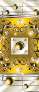 Türtapete - Abstrakt Ornamente Perlen Diamant Gitter | no. 736 - Vorschau 5
