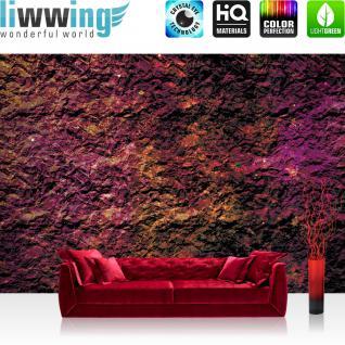 liwwing Vlies Fototapete 416x254cm PREMIUM PLUS Wand Foto Tapete Wand Bild Vliestapete - Texturen Tapete Stein Steinwand Steinoptik Farben Muster lila - no. 2511