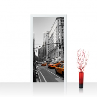Türtapete - Manhattan Skyline Taxis City Stadt | no. 194