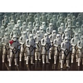 liwwing Vlies Fototapete 208x146cm PREMIUM PLUS Wand Foto Tapete Wand Bild Vliestapete - Disney Tapete STAR WARS Rebels Kindertapete Action Stormtrooper Roboter weiß - no. 2384 - Vorschau 2