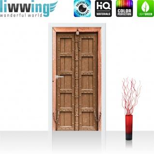 Türtapete - Sonstiges Tür Holz Alt Antik Kette   no. 4284 - Vorschau 2