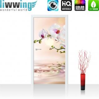 Türtapete - Orchidee Blumen Blumenranke Weiß Pink Natur Pflanzen Abstrakt | no. 200 - Vorschau 2