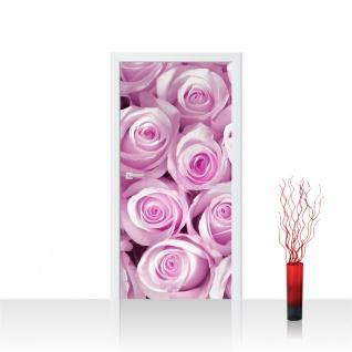 Türtapete - Blumen Rose Blüten Natur Liebe Love Blüte Pink | no. 186