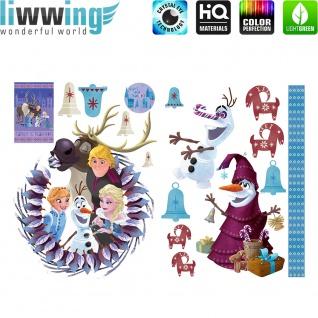 Wandsticker Disney Frozen - No. 4851 Wandtattoo Sticker Eiskönigin Olaf Anna & Elsa Kindersticker Mädchen
