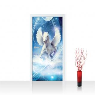 Türtapete - Pegasus Wasser Mond Sterne | no. 1077
