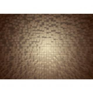 liwwing Vlies Fototapete 312x219cm PREMIUM PLUS Wand Foto Tapete Wand Bild Vliestapete - 3D Tapete Formen Vierecke sepia - no. 1339 - Vorschau 2