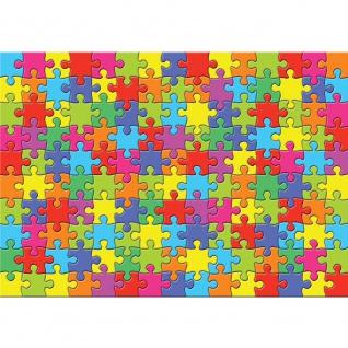 Fototapete Cartoon Tapete Puzzle, farbenfroh, mehrfarbig bunt | no. 3240