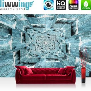 liwwing Fototapete 254x184cm PREMIUM Wand Foto Tapete Wand Bild Papiertapete - Kaffee Tapete Tasse Kaffeebohnen Café braun - no. 3150