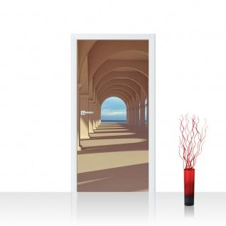 Türtapete - Romantic Arcade Romantic 3D Perspektive Säulengang Arkade | no. 69