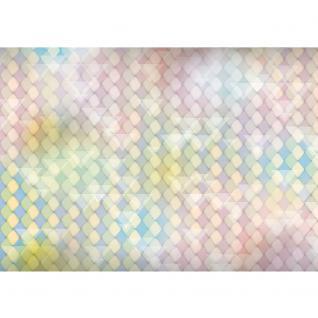 liwwing Vlies Fototapete 350x245 cm PREMIUM PLUS Wand Foto Tapete Wand Bild Vliestapete - Illustrationen Tapete Abstrakt Rechtecke Dreiecke Formen bunt Muster rosa - no. 393 - Vorschau 2