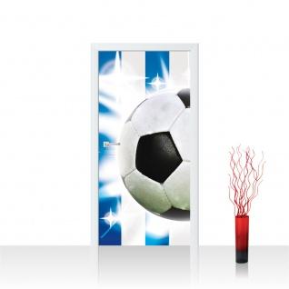 Türtapete - Fussball Ball Sterne | no. 1037