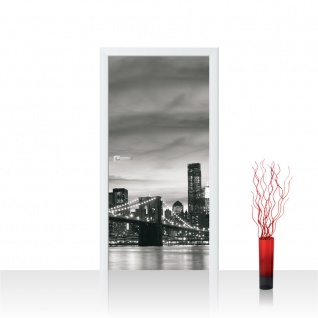 Türtapete - New York Bridge Lightning | no. 269