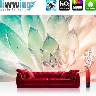liwwing Vlies Fototapete 416x254cm PREMIUM PLUS Wand Foto Tapete Wand Bild Vliestapete - Blumen Tapete Blüten Blätter rosa - no. 2146