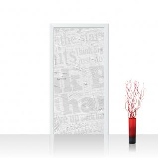 Türtapete - Wall of BIG Words Ornamente Schrift Text Hintergrund Office Büro | no. 124