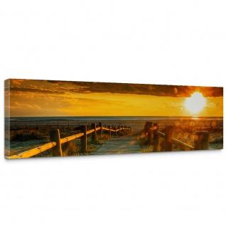 Leinwandbild Sunset Beach Sonnenaufgang Strand Meer Felsen Sunset   no. 64