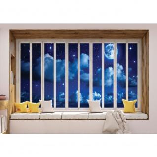 Fototapete Himmel Tapete Vollmond, Mond, Wolken, Nachthimmel, Fenster natural   no. 3424