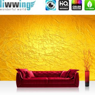 liwwing Vlies Fototapete 104x50.5cm PREMIUM PLUS Wand Foto Tapete Wand Bild Vliestapete - Kunst Tapete Abstrakt Knitter Falten Design Muster Papier gelb - no. 2345