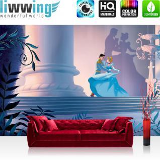 liwwing Vlies Fototapete 312x219cm PREMIUM PLUS Wand Foto Tapete Wand Bild Vliestapete - Steinwand Tapete Steinoptik Fenster Blumenfeld Regenbogen Himmel Vögel weiß - no. 2654