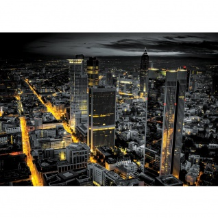 Fototapete Skylines Tapete Panorama Skyline Häuser Straßen Nacht Lichter schwarz   no. 948