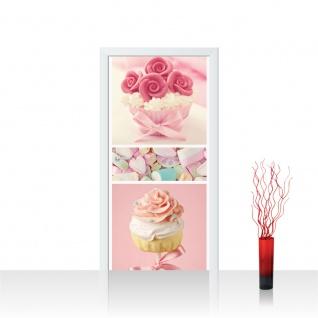 Türtapete - Cupcake Herz Rose Marshmallow | no. 412