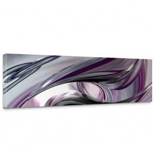 Leinwandbild Liquid Climax 3D Digital Art Abstrakt Schwung blau rot lila | no. 10