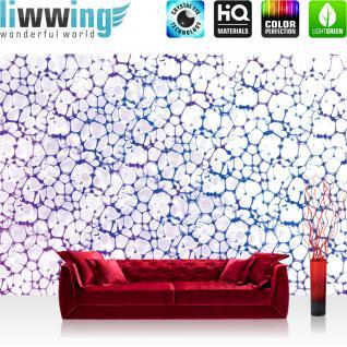 liwwing Fototapete 368x254 cm PREMIUM Wand Foto Tapete Wand Bild Papiertapete - Kunst Tapete Muster Abstrakt Zellen Geflecht Netz weiß - no. 1936