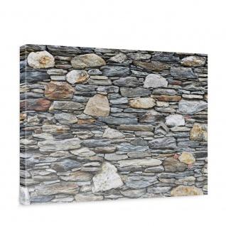 Leinwandbild Steinwand Steinoptik Steine Wand Mauer Stein   no. 161