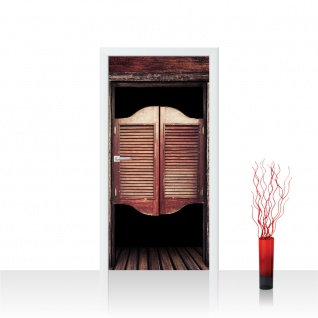 Türtapete - Sonstiges Tür Holz Saloon Schwingtür Alt | no. 4278