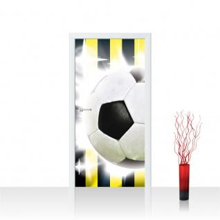 Türtapete - Fussball Ball Sterne | no. 1035