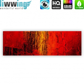 Leinwandbild Paint it Red abstrakt 3D Wand Rot braun Hintergrund   no. 103 - Vorschau 4