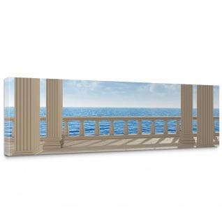 Leinwandbild Terrace View Silent Ocean Seeblick 3D Strand Meer Sonne Wolken Himmel   no. 122