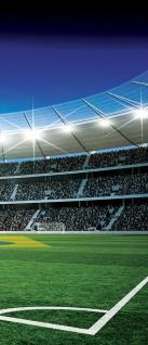 Türtapete - Fußballstadion Eckpunkt Brasil Flutlicht Rasen | no. 309 - Vorschau 5