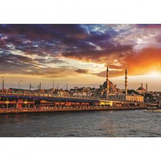 Fototapete Istanbul Tapete Stadt Himmel Wasser Skyline blau | no. 1192