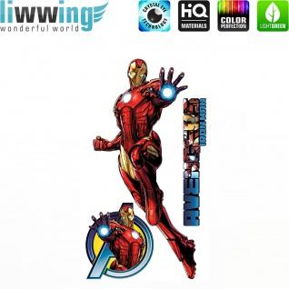 Wandsticker Marvel Avengers - No. 4644 Wandtattoo Sticker Kinderzimmer Hulk Iron Man Thor Captain America