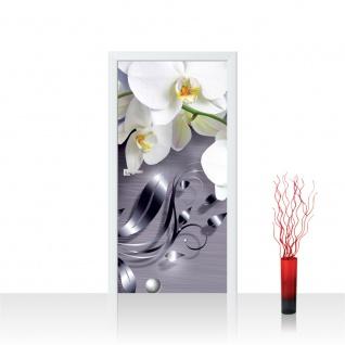 Türtapete - Ornament Orchidee   no. 604