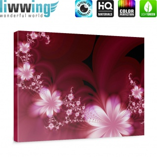 Leinwandbild Red Flower Ornaments Ornamente Blumen Orchidee Rot Blumenranke | no. 40 - Vorschau 5