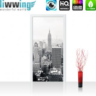 liwwing Vlies Türtapete 100x211 cm PREMIUM PLUS Tür Fototapete Türposter Türpanel Foto Tapete Bild - MANHATTAN SKYLINE no.2 - New York City USA Amerika Empire State Building Big Apple - no. 118